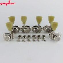 GUYKER 3R3L – cordes de verrouillage pour guitare électrique Vintage de luxe, 1 ensemble, têtes de Machine, accordeurs Nickel /Chrome, chevilles de réglage