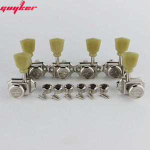 Image 1 - 1 Set GUYKER 3R3L Locking String Vintage Deluxe Electric Guitar Machine Heads Tuners Nickel /Chrome Tuning Pegs