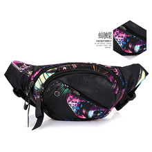 Printing Nylon Zipper Shoulder Bags Womens Brand Desing Belt Bag Good Quality Oxford Waist Packs Phone Multifunction