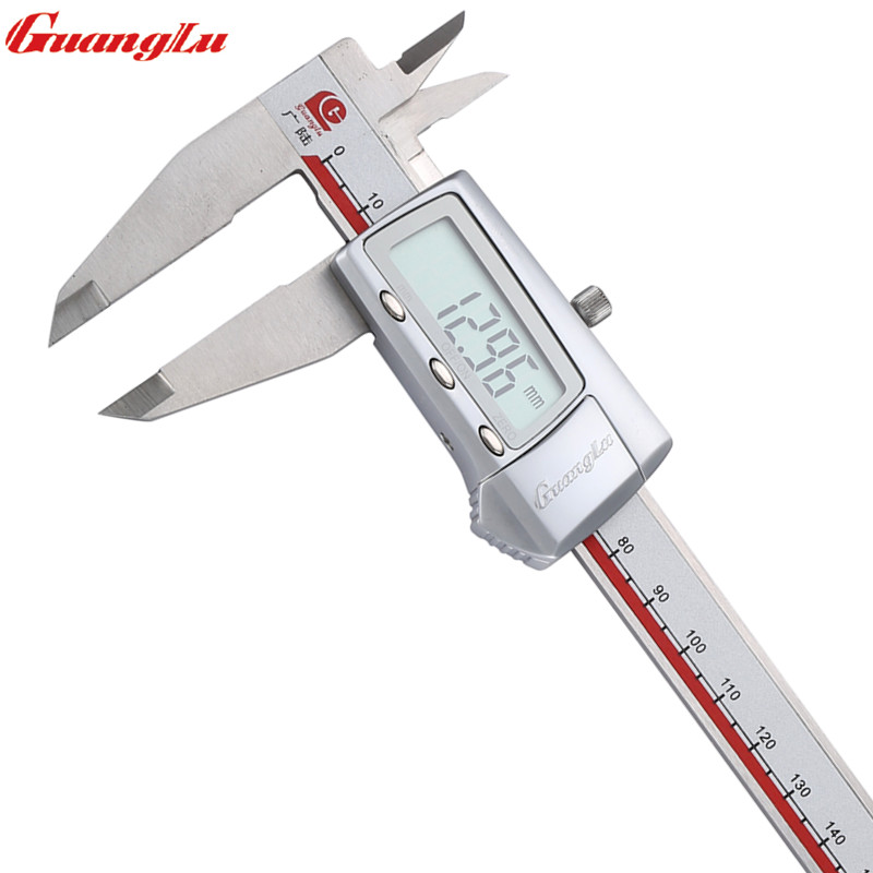 GUANGLU Digital Caliper 8 0 200mm 0 01 Electronic Stainless Steel Vernier Calipers Micrometer Measure Tools