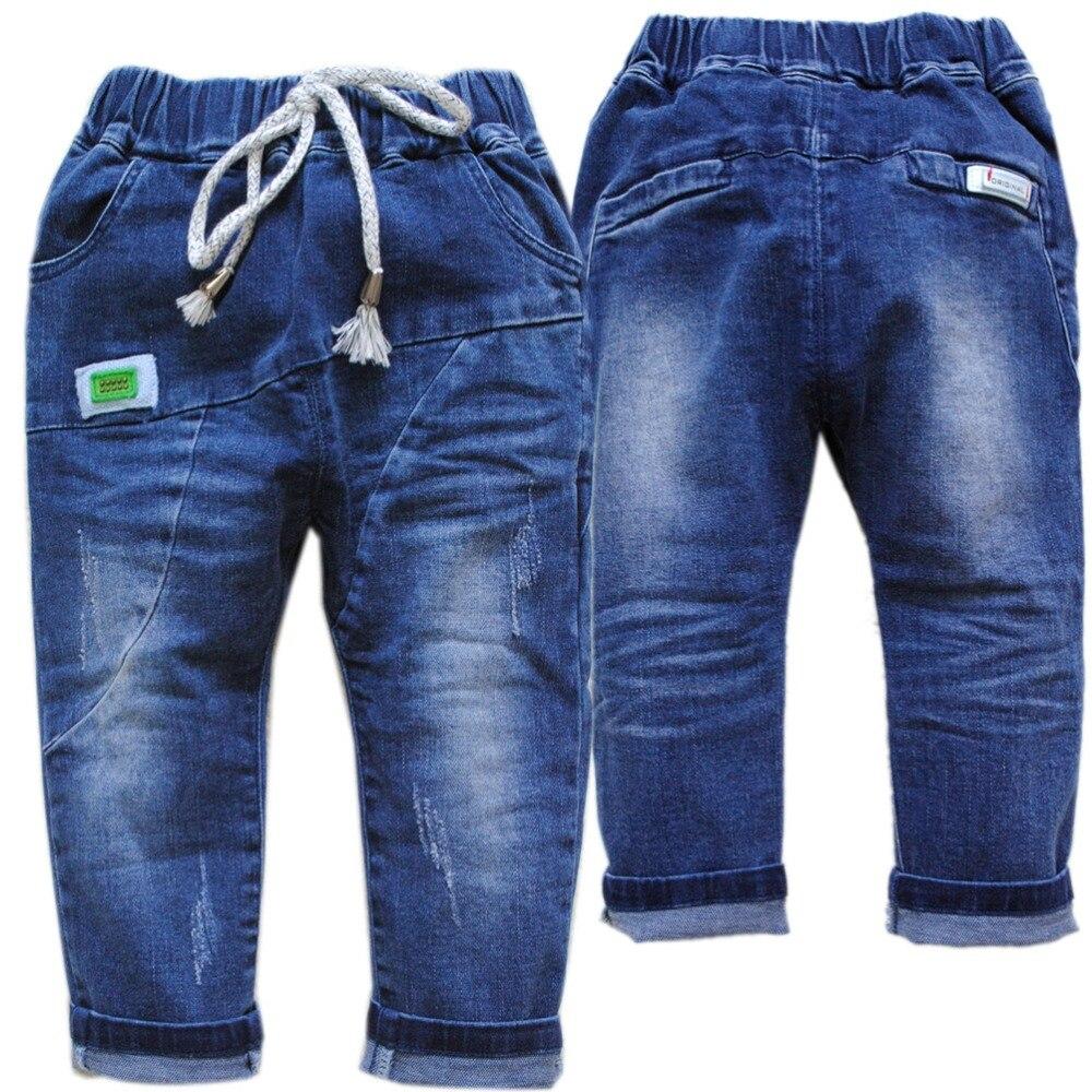 8a8f6a34 4061 темно-синие джинсы для малышей, джинсы для маленьких мальчиков, мягкие  джинсовые штаны с эластичной резинкой на талии, детские брюки