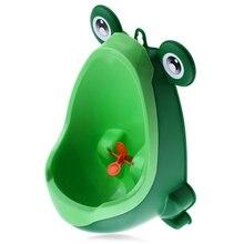 Новое поступление детские горшок для мальчика Туалет Обучение лягушка Дети стенд вертикальный писсуар Мальчики Penico Pee Младенец Малыш настенный