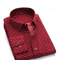 Hot sell Menprint full sleeve men clothes solid Large size business dress shirts patckwork brand turn-down collar tops