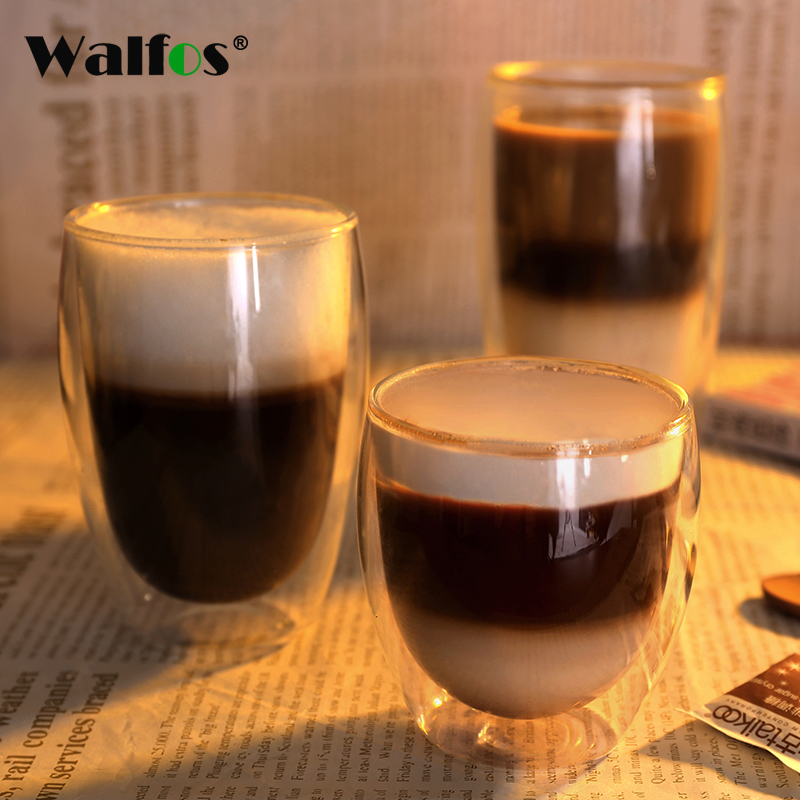 Creative Double Glass Wall Coffee Cup Tea Cup of Coffee Juice Cup of Milk 1 pc 80-650 ml of Beer Glasses of Gole Verre Cocktail