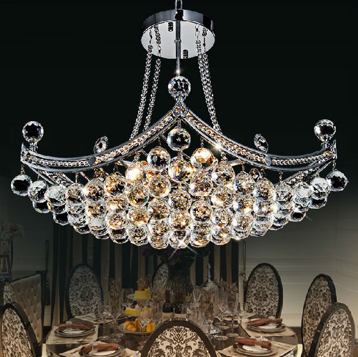 Simple modern crystal lamp European chandelier luxury living room bedroom restaurant lights creative meal chandeliers decorated restaurant crystal lamp square postmodern simple stainless steel bronze villa luxury led modern crystal chandelier for bedroom