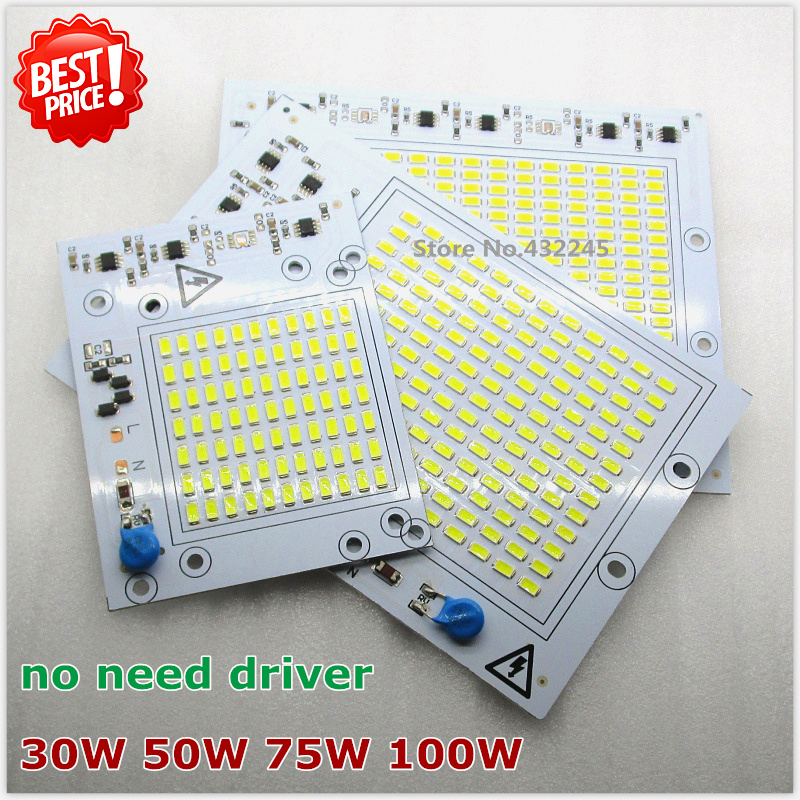 10 pieces 220V directly 30W 50W 75W 100W  Integrated IC LED PCB smd 5730 Aluminum Base Plate no need driver. free shipping.. 20pcs 12w led light panel smd 5730 ic driver pcb input voltage ac110v 130v needn t driver aluminum plate free shippping