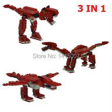 2015 Original box Dinosaur Red Tyrannosaurus  Building Block Sets  Educational Construction gothic Bricks Toys gift For Children