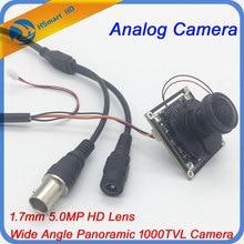5Megapixel 1.7mm Fisheye Lens Analog HD1200TVL HD CCTV COMS IR-CUT Camera M12 Mount 1/2.5″ F2.0 Wide Angle Panoramic PCB CAMERAS