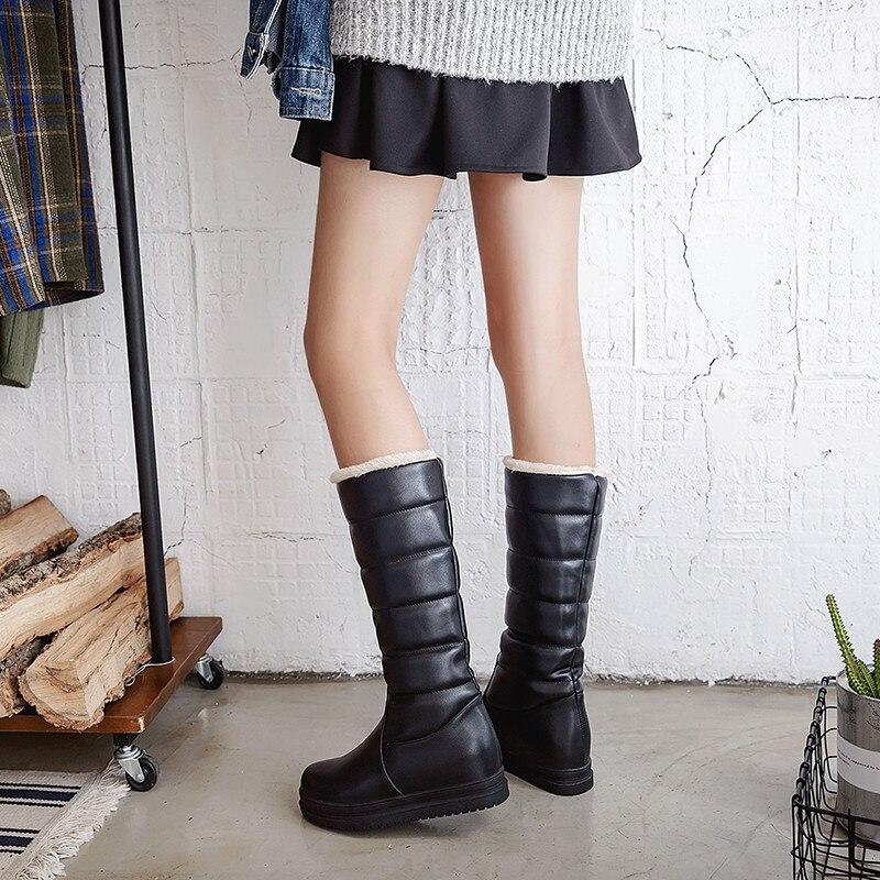 Bottes Blanc Chaussures Boot Chaud Hiver Dames Haute tCsxrdhQ