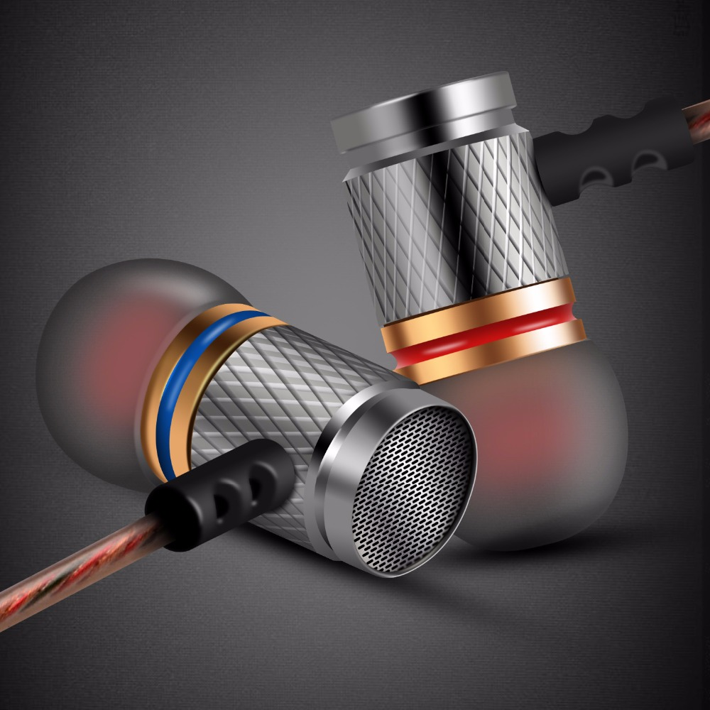 Brand KZ EDR1 Music Headset Gold Plated Housing Earbuds Noise Cancelling Earphone Stereo With Microphone For