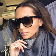 Oversized Square Sunglasses Women Designer Brand Big one len