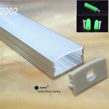 5 30 개/몫/lot 더블 행 led 스트립에 대 한 40 inch 1 m 플랫 알루미늄 프로파일, 피팅과 20mm pcb에 대 한 유백색/투명 커버 채널