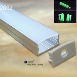5-30 teile/los 40 zoll 1 mt flache aluminium profil für zweireihige led-streifen, milchig/transparent abdeckung kanal für 20mm pcb mit armaturen