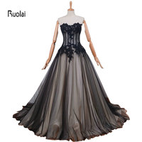 שחור ושמפניה לדוגמא נדל טול 2016 חדש מקסים כדור שמלה מתוקה תחרת Applique ואגלי פורמליות ארוך שמלות נשף