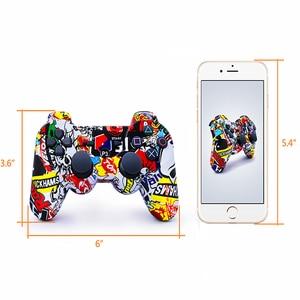 Image 5 - Kompatybilny Ps3 Gamepad kontroler Bluetooth Joystick wibrator SIXAXIS kompatybilny Playstation 3 bezprzewodowy pad do gier ps3
