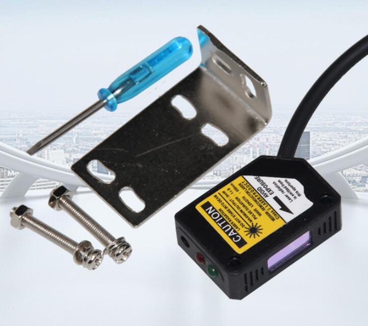SYME3Z-L30N1 Laser Sensor  Diffuse Reflection Photoelectric Switch NPN NO 200mm Adjustable 12-24VDC 200mA Visible Light
