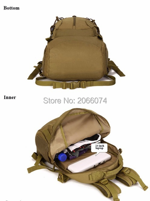 40L Military Tactical Backpack Rucksack Camping Hiking Trekking Outdoor 5 Colors