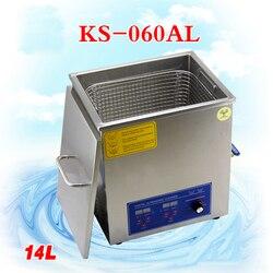 1 PC 110 V/220 V KS 060AL 14L maszyn do czyszczenia ultradźwiękowego płytka drukowana części laboratorium cleaner/produkty elektroniczne itp w Myjki ultradźwiękowe od AGD na