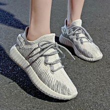Womens shoes flats 2019 summer new reflective flying woven sneakers wild breathable casual ladies