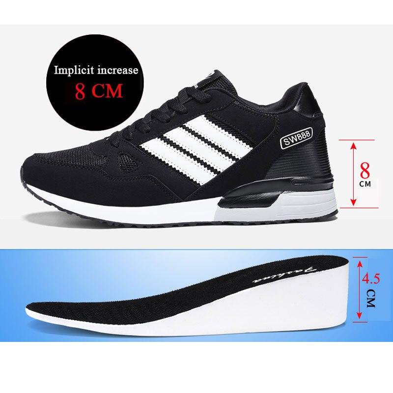 Mode respirant lumière hauteur augmentant 8 CM baskets mâle pour hommes chaussures décontractées adulte étudiant marche tendance populaire ascenseur