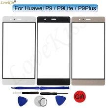 Dla Huawei P9 Lite Plus G9Lite P9Lite P9Plus EVA L19 VIE L09 wymiana ekranu dotykowego Panel przedni wyświetlacz LCD szklana osłona obiektywu
