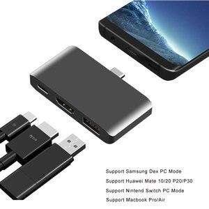Image 1 - Adaptador USB C a HDMI Thunderbolt 3, compatible con PD, modo Dex para teléfono Samsung, Nintendo Switch, Macbook Pro/Air tipo c