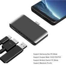 Usb c hub para hdmi thunderbolt 3 adaptador com suporte pd modo dex para samsung telefone nintend interruptor macbook pro/ar tipo c