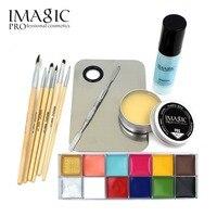 Hot Sale Makeup Cosmetics 12 Colors Body Painting Skin Wax Professional Makeup Remover Makeup Set Tools