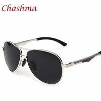 Chashma Marca Polaroid Óculos De Sol para Homens 3 Cores Twin-Feixe Full Frame Espelho Revestimento de Pesca Condução Gafas oculos masculino