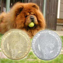 Metal Coins Dog-Gold-Coin Chinois Silver-Plated Calendrier WR And for New-Year Gifts