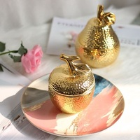 Apple Sculpture storage box golden pear desktop ornaments Home Furnishing soft decoration