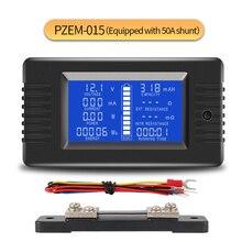 PZEM 015 200v 50a bateria de descarga tester capacidade potência soc resistência impedância digital amperímetro voltímetro medidor energia