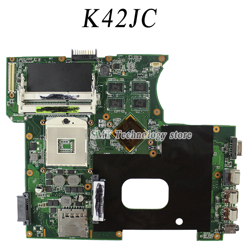 K42JC Motherboard For Asus K42JC REV2.2 Mainboard N11M-GE2-S-B1 GT310M PGA989 original new laptop motherboard for asus k52jc rev 2 1 ddr3 n11m ge2 s b1 mainboard