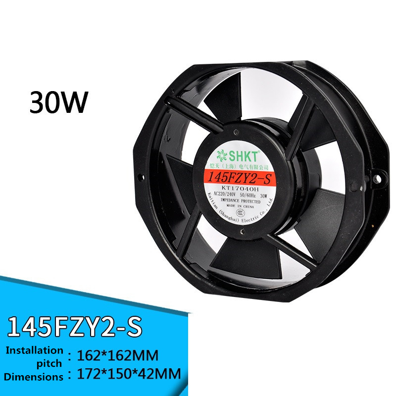 145FZY2-S 220V 0.18A 145FZY3-S 380V Axial Fan Pure Copper Wire Double Ball Bearing Cooling Fan