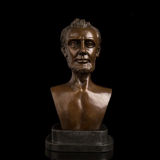 Kunsthandwerk Kupfer Beruhmte Figur Lin Coln Skulptur Mann
