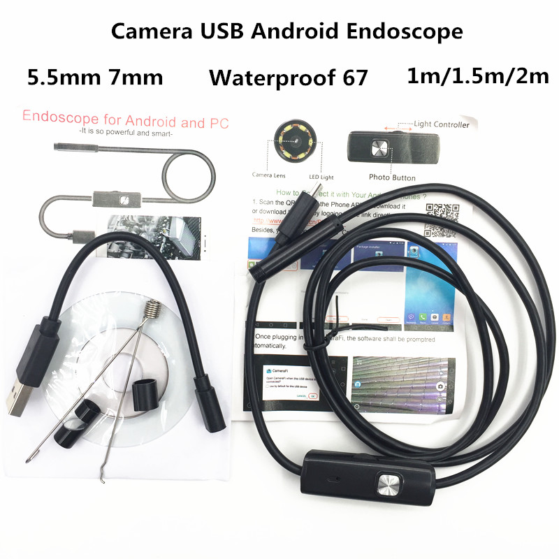 HEONYIRRY 1M/2M 5.5mm 7mm Endoscope Camera