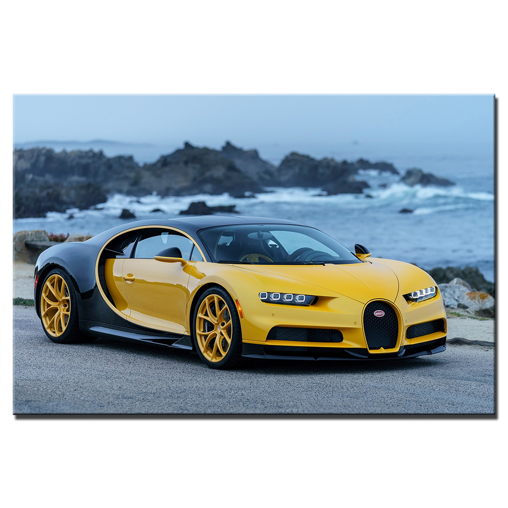 Bugatti Chiron Home: Bugatti Chiron Supercar Canvas Painting Wall Art Pictures