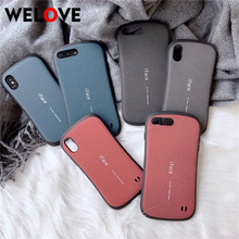 все цены на iFace PC Matte shock phone case For iphone 6 6S 7 8 Plus X XR XS Max Back Cover proof Frosted hard shell coque for iphone X case