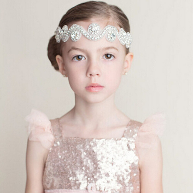 New Girls Princess Rhinestone Headbands Beautiful Crystal Kids Hair