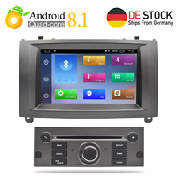 7Android 8.1 Car DVD Player Multimedia Stereo For Peugeot 407 2004 2005 2006 2007 2008 2009 2010 Auto Radio GPS Navigation