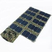 Высокое качество широкий Совместимость 64 Вт Sunpower складной солнечной Зарядное устройство для ноутбука/сотовый телефон DC21V + Dual USB Выход высок