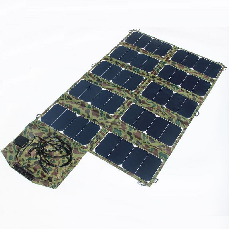 High Quality Wide Compatibility 64W Sunpower Foldable Solar Charger for Laptop/Cell Phone DC21V+Dual USB Output High Efficiency 14w solar charger dual usb output solar cell solar panel 12v ourdoor camping charger for laptop bluetooth headset ipod and more