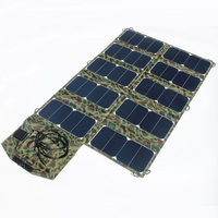 High Quality Wide Compatibility 64W Sunpower Foldable Solar Charger for Laptop/Cell Phone DC21V+Dual USB Output High Efficiency