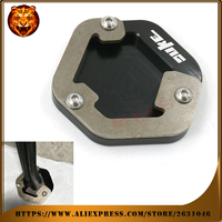 Motorcycle Foot Side Kickstand Pad Stand Extension Support Plate For KTM 690 DUKE R 2013 2014