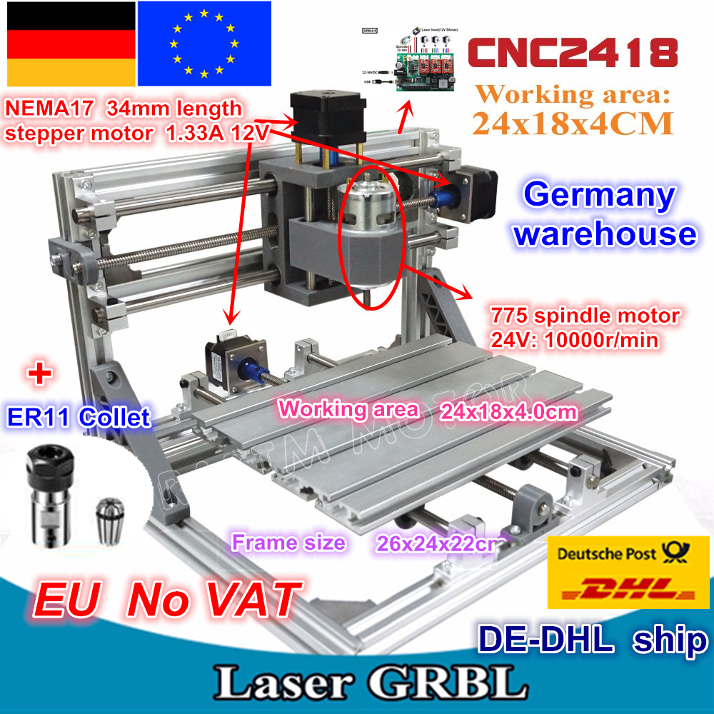 CNC 2418 GRBL Control Diy CNC Machine Working Area 24x18x4.0cm,3 Axis Pcb Pvc Milling Machine Wood Router,Carving Engraver,v2.5