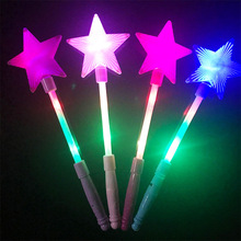 Children Illuminated Toys Five-pointed Star Flash Stick Stars Magic Bar Kids Girl Fairy Star Rod Toy Gifts Random Color