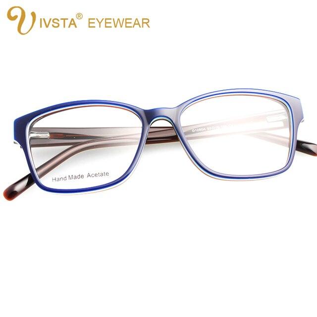 IVSTA G1280A Ручной Ацетат Оптических Кадров Кошачий Глаз Очки для Женщин Бабочка Тень Цвет может обычай линзы со степенью