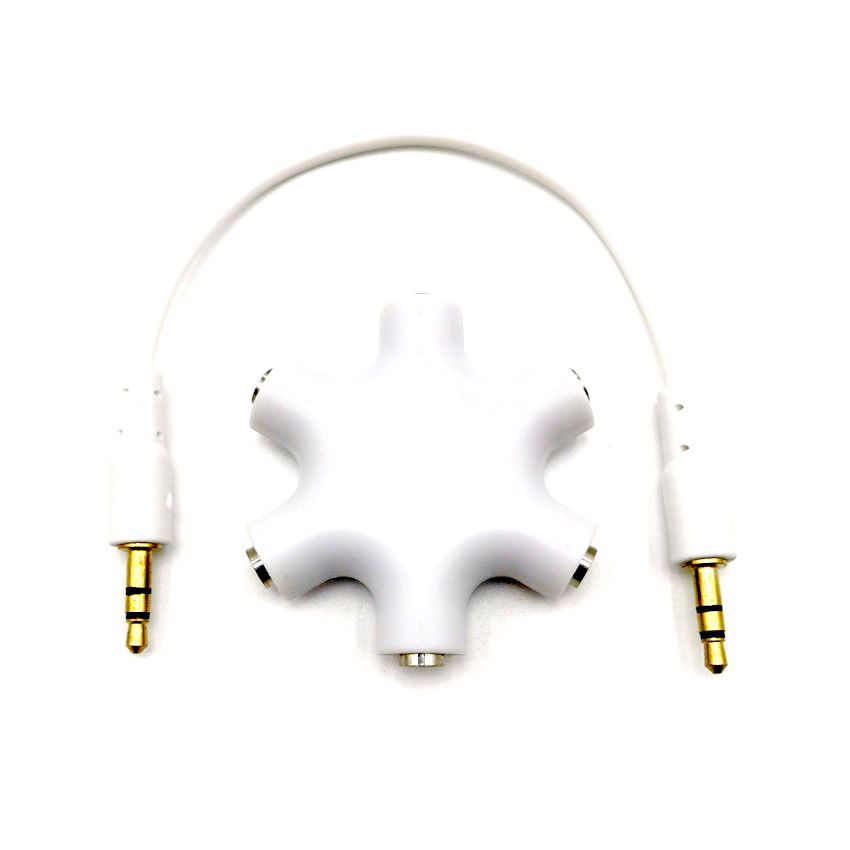 Quality 3 5mm Earphone Audio Splitter 1 Male to 1 2 3 4 5 Female Cable 5 Way Port Aux Music Sound Output Cables 20cm in Power Cords Extension Cords from Home Improvement