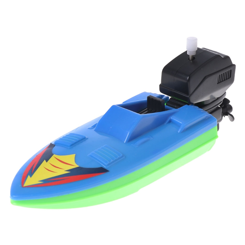 Baby Toy Kid Wind Up Clockwork Boat Ship Toys Bath Toy Play Water Bathroom 95AE