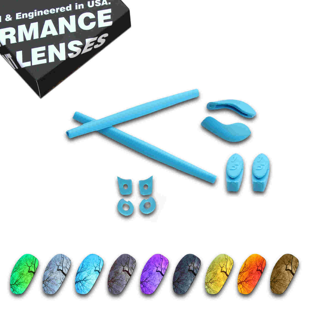 ToughAsNails Resist Seawater Corrosion Polarized Replacement Lens Sky Blue Rubber Kit for Oakley juliet Multiple Options in Eyewear Accessories from Apparel Accessories